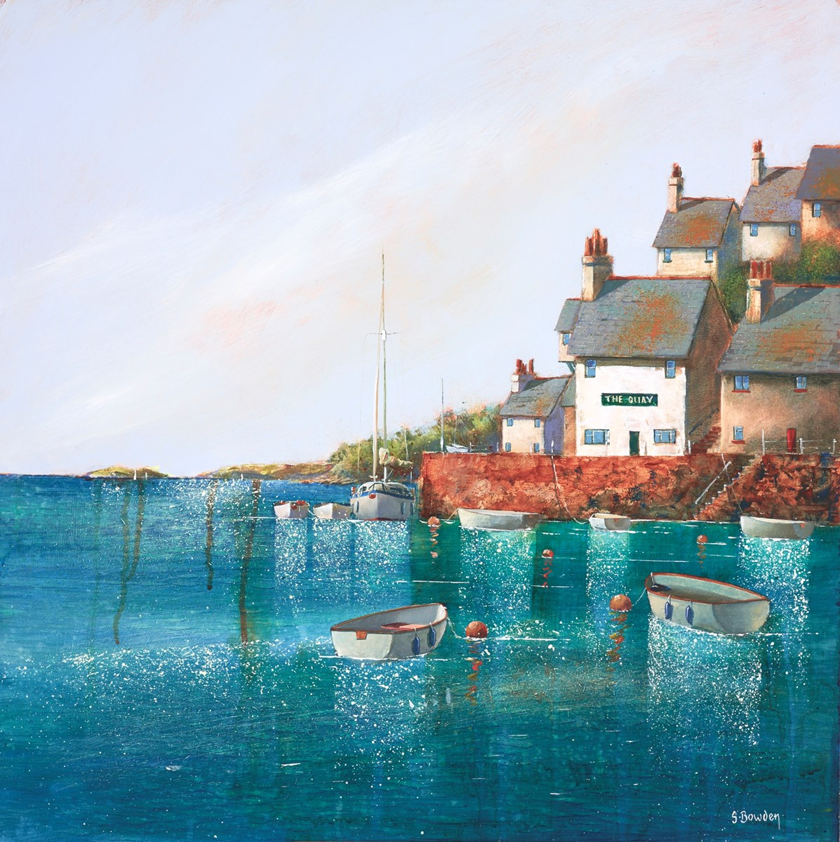 The Quay Inn by steve bowden -  sized 18x18 inches. Available from Whitewall Galleries